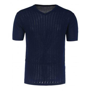 Short Sleeve V Neck Jumper