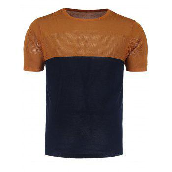 Crew Neck Color Block Jumper