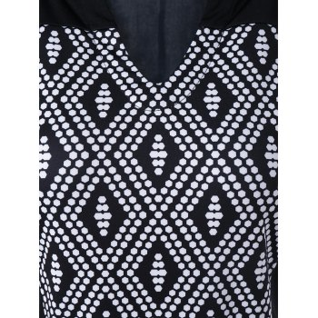Plus Size Split-Neck Rhombus Dress - 4XL 4XL