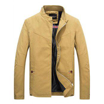 Zippered Stand Collar Jacket
