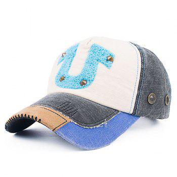 Patchwork Towelling Character Rivet Baseball Hat