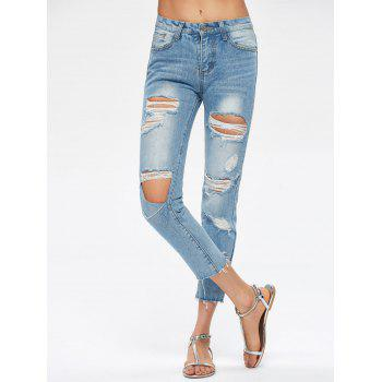 Cropped Destroyed Jeans