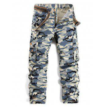 Multi Pockets Camouflage Pattern Cargo Pants