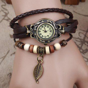 Tree Leaf Vintage Braid Bracelet Watch