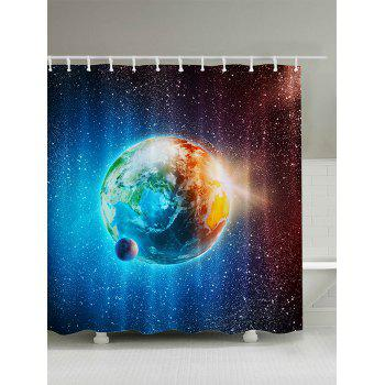 Earth Starry Sky Pattern Shower Curtain