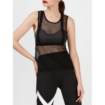 Sporty See Through Mesh Tank Top