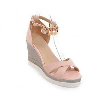 PU Leather Wedge Heel Sandals
