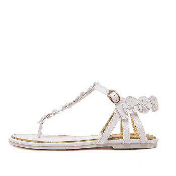 Faux Pearls Flowers Sandals - 39 39