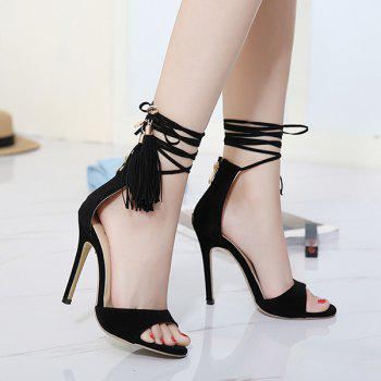 Tassels Tie Up Sandals