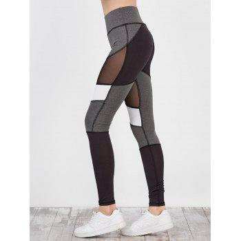 Colorblock Mesh Panel Workout Leggings