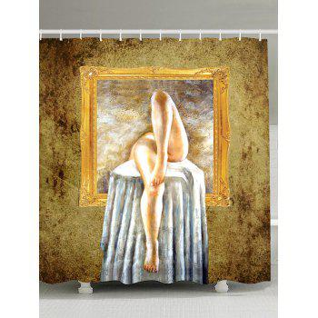Bath Decor Art Painting Polyester Shower Curtain