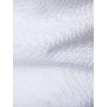 Pocket Denim Splicing Polo T-Shirt - WHITE L