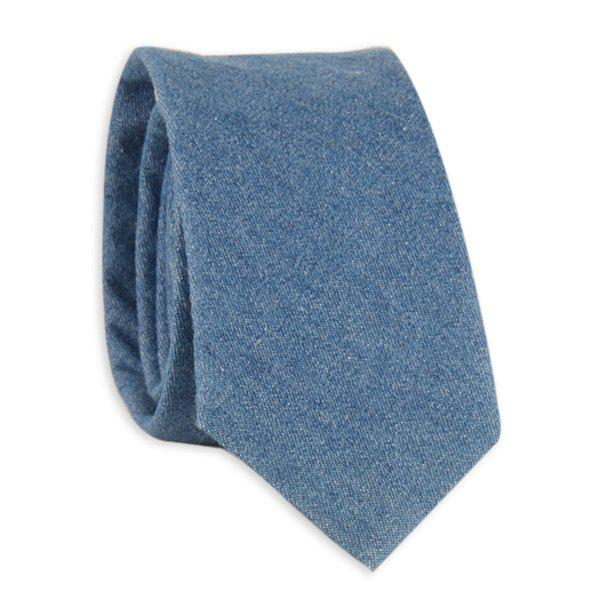 Cotton Denim Neck Tie - DENIM BLUE