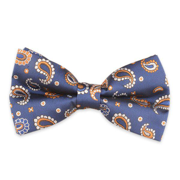 Paisley Embroidery Vintage Bow Tie - DEEP BLUE