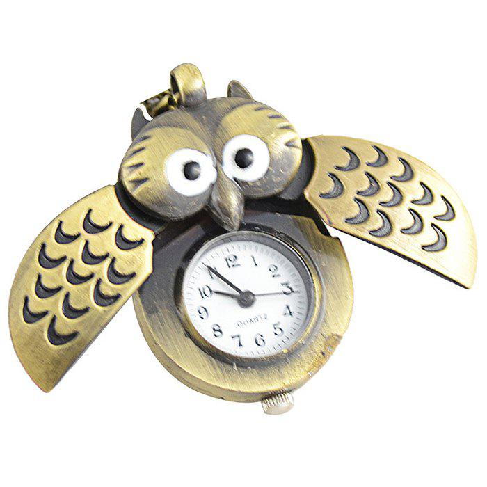 Owl Pendant Analog Pocket Watch - BRONZED