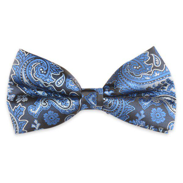 Floral Printed Jacquard Adjustable Bow Tie - ROYAL