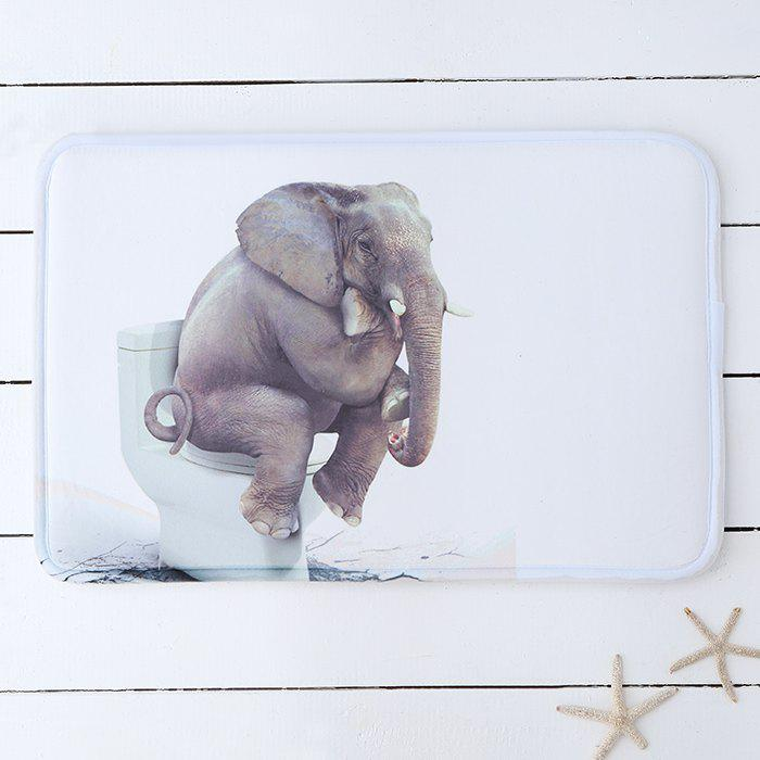 Exceptionnel Elephant Toilet Water Absorbing Bathroom Rug   WHITE 60*40CM