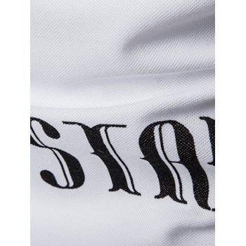 Star Number Printed Polo T-Shirt - WHITE WHITE