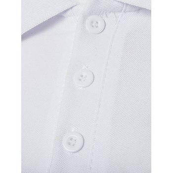 Star Number Printed Polo T-Shirt - WHITE L