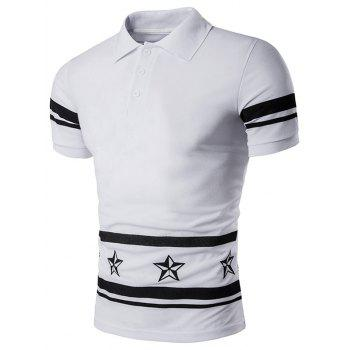 Star Number Printed Polo T-Shirt