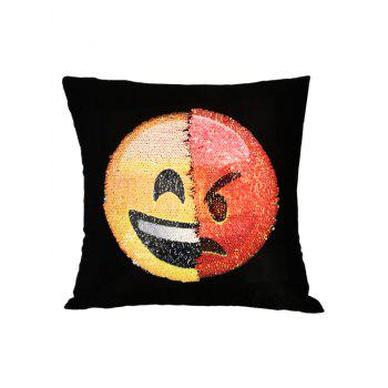 Angry Emoticons Reverisble Sequin Pillow Case