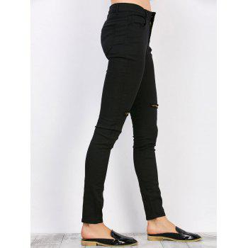 Distressed High Waisted Jeans - XL XL