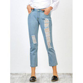 Broken Hole High Waisted Jeans