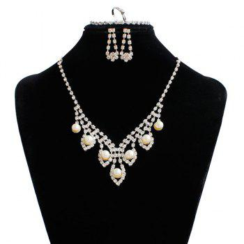 Rhinestone Faux Pearl Jewelry Set