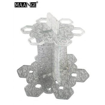 MAANGE Beauty Brush Holder Brush Stand -  SILVER