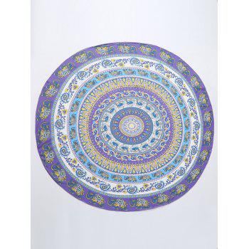 Elephant Mandala Round Shaped Chiffon Beach Throw -  COLORMIX