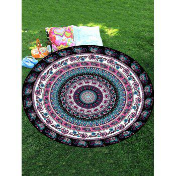 Thailand Elephant Mandala Round Chiffon Beach Throw