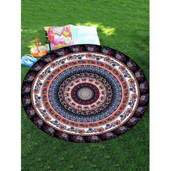 Thailand Elephant Mandala Round Shaped Beach Throw