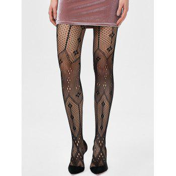 Elastic See Through Hole Tights