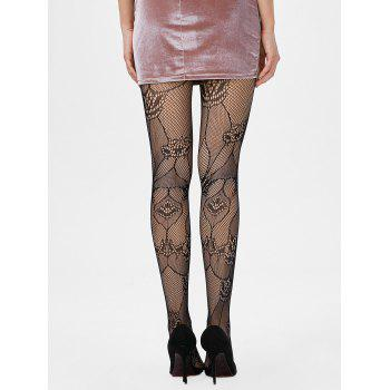 Openwork Elastic Sheer Tights - ONE SIZE ONE SIZE