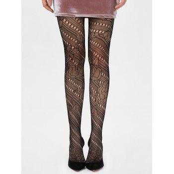 See Thru Elastic Hole Tights