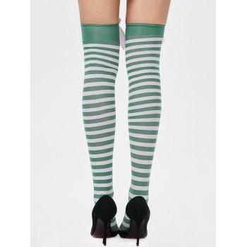 Overknee Stripe Stockings with Bowknot - ONE SIZE ONE SIZE