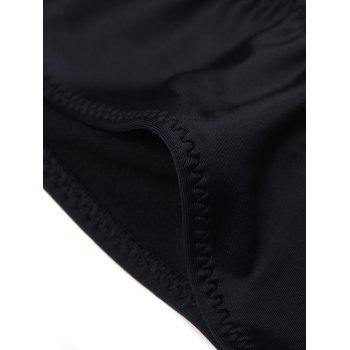 Candy Color Low Waist Briefs - BLACK L