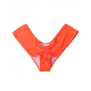 Candy Color Low Waist Briefs - ORANGE ORANGE