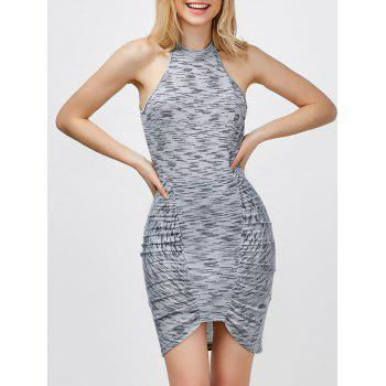 Sleeveless Ruched Bodycon Graduation Dress