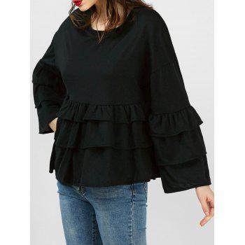 Flounce Layered Drop Shoulder Top