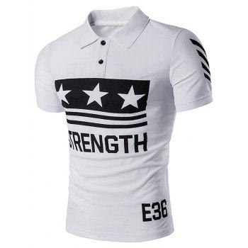 Star Strength Printed Polo T-Shirt