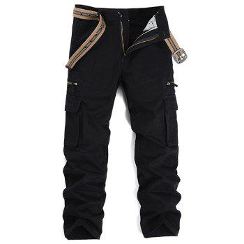 Multi Pockets Graphic Embroidered Cargo Pants