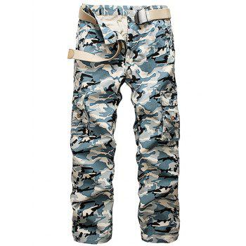 Multi Pockets Camo Cargo Pants