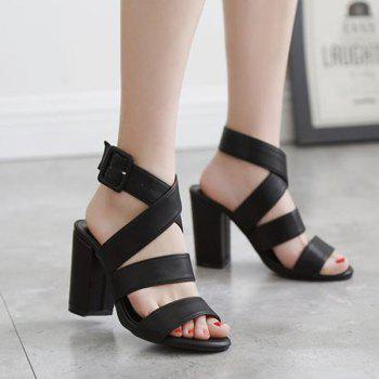 Faux cuir Sandals Cross Strap