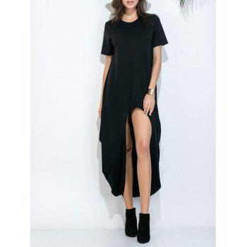 Cutout Asymmetrical Hem Tee Dress