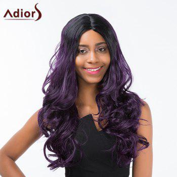 Adiors Long Fluffy Middle Part Colormix Wavy Synthetic Wig