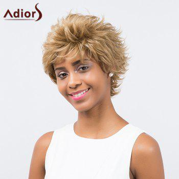 Adiors Oblique Bang Short Layered Curly Synthetic Wig