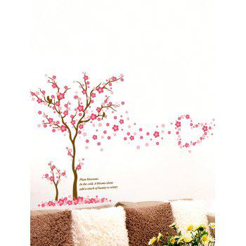 Waterproof Removable Plum Blossom Tree Print Wall Sticker