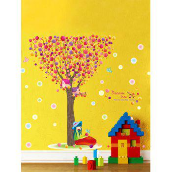 Waterproof Colorful Bubble Tree Print Children Room Wall Sticker