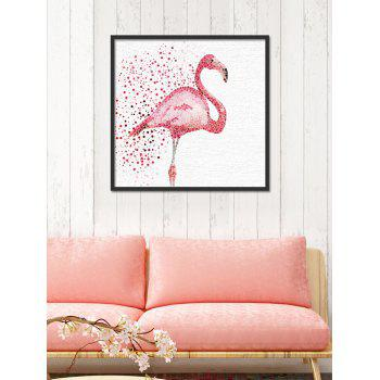 Watercolor Dotted Flamingo Print Canvas Wall Art